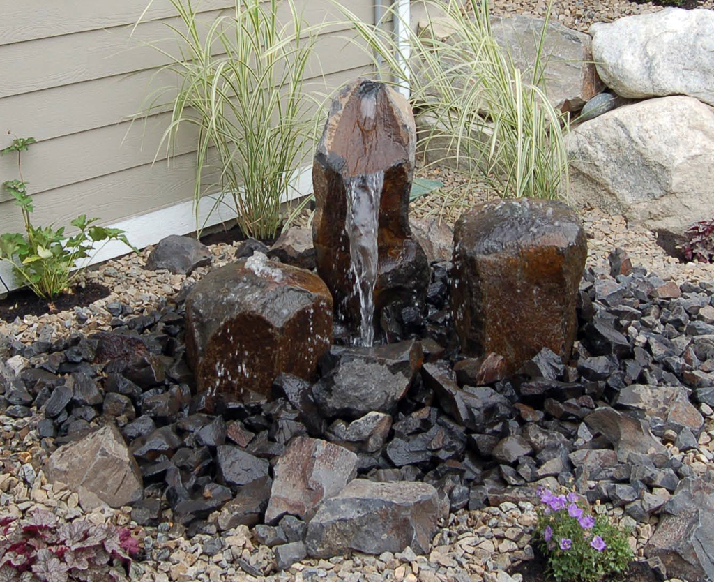 Diy Small Water Feature Ideas. landscape diy fountain in the garden ...